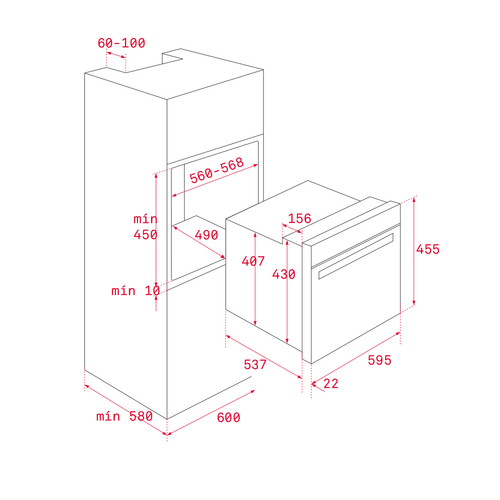 TEKA HLC 840 SS 45 Cm Multifonksiyonel, Hydroclean Teknolojili Isıyı Eşit Dağıtan Surroundtemp Turbo Fırın
